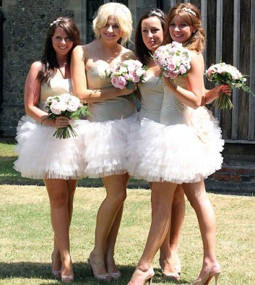 Short Cute Bridesmaid Dress