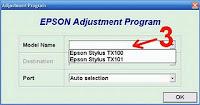 Cara Resetter Epson TX100 dan Resetter Epson TX101