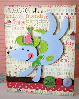 Dancing Dog Birthday Card
