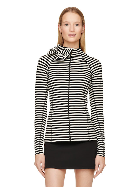 kate spade bow neck jacket yoga workout preppy gear