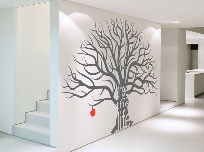 Hogares frescos vinilo decorativo el arbol de la vida for Arbol interior