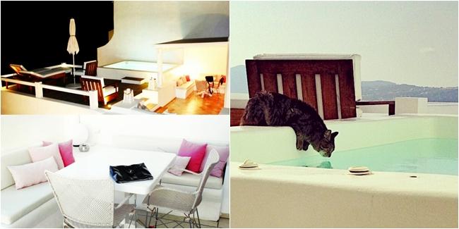 Aqua luxury suites private deck, executive suite (Imerovigli, Santorini). Luxury hotels in Santorini.