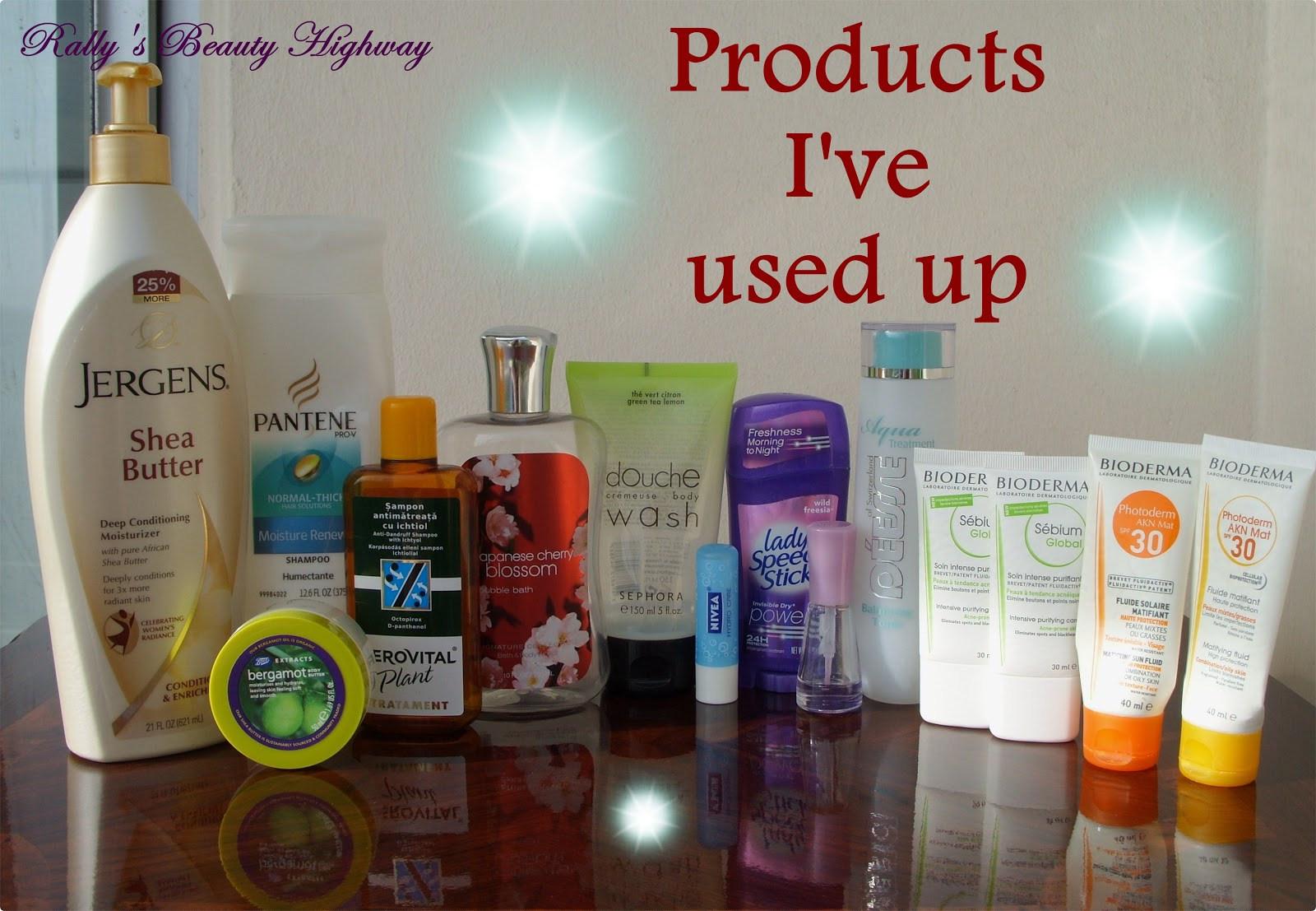 Used up cosmetic products