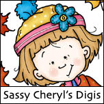 Sassy Cheryl's digi and rubber stamps