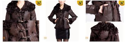 Women Sheepskin Fur Lined Jacket