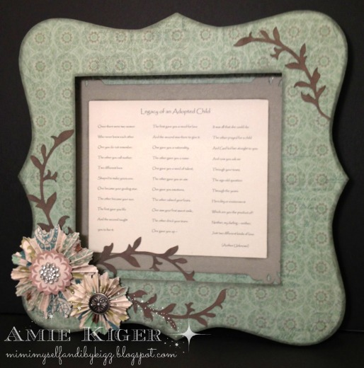 Mimi, Myself, and I: Close to My Heart Bracket Frame Special Order