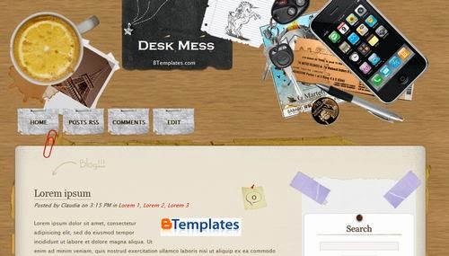 Desk mess Latest Template