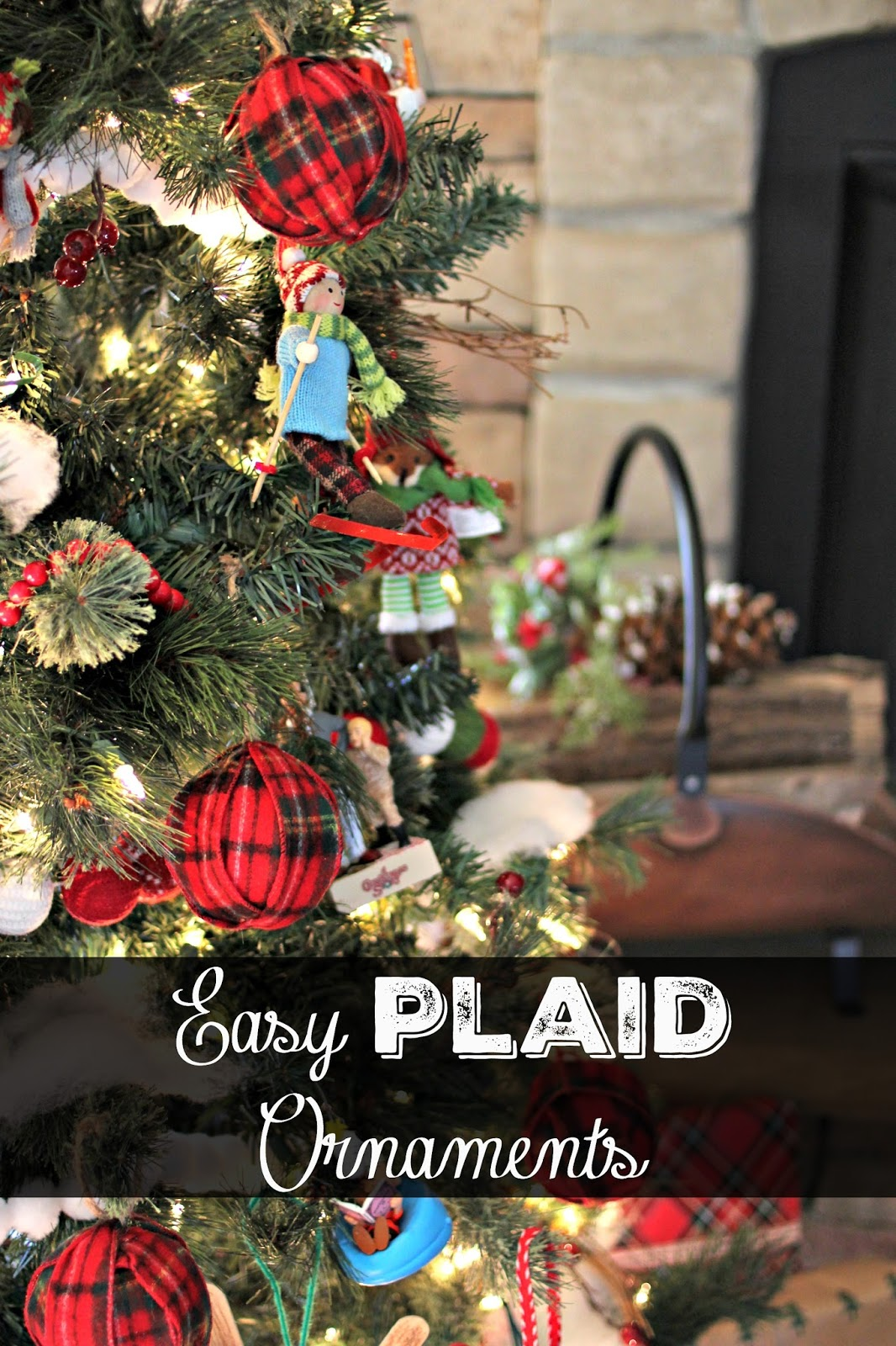 easy plaid christmas ornament tutorial wwwgoldenboysandmecom - Plaid Christmas Tree Decorations