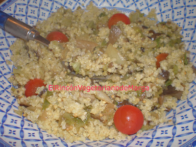 Mijo Con Verduras,  Setas Y Tomates Cherry