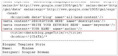 Como adicionar Meta Tags para Blogger Blog