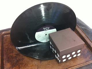 Old vinyl record crafts www.thebrighterwriter.blogspot.com