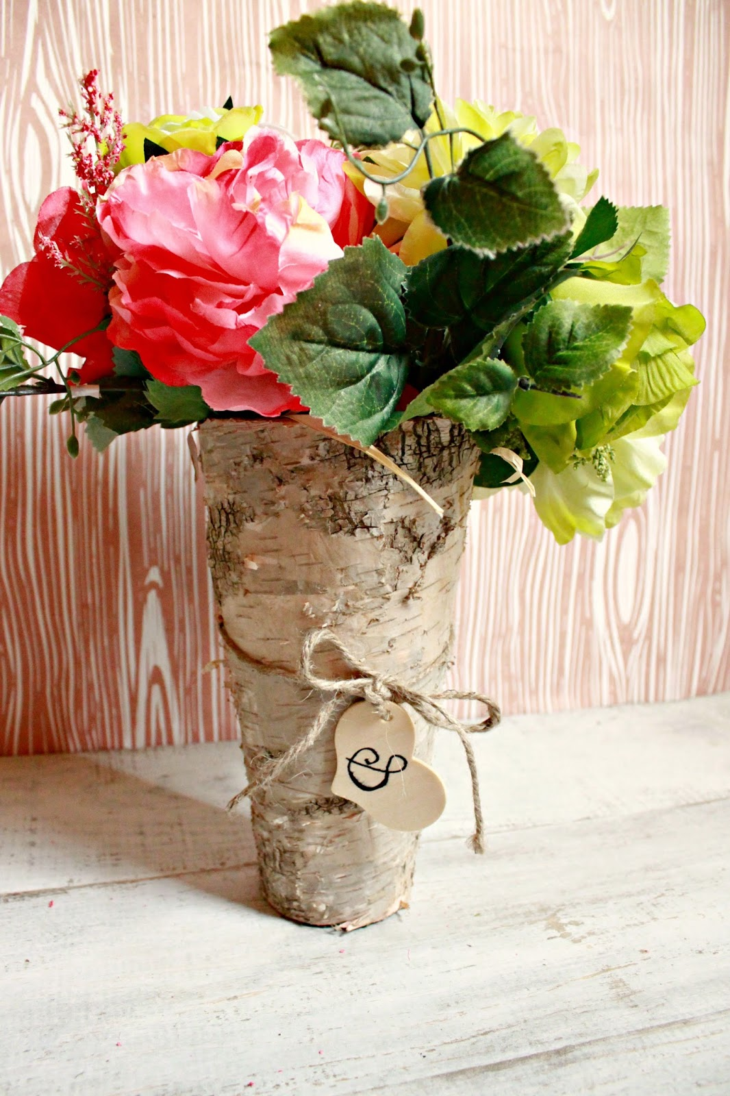 How to bride diy birch wood vase centerpiece