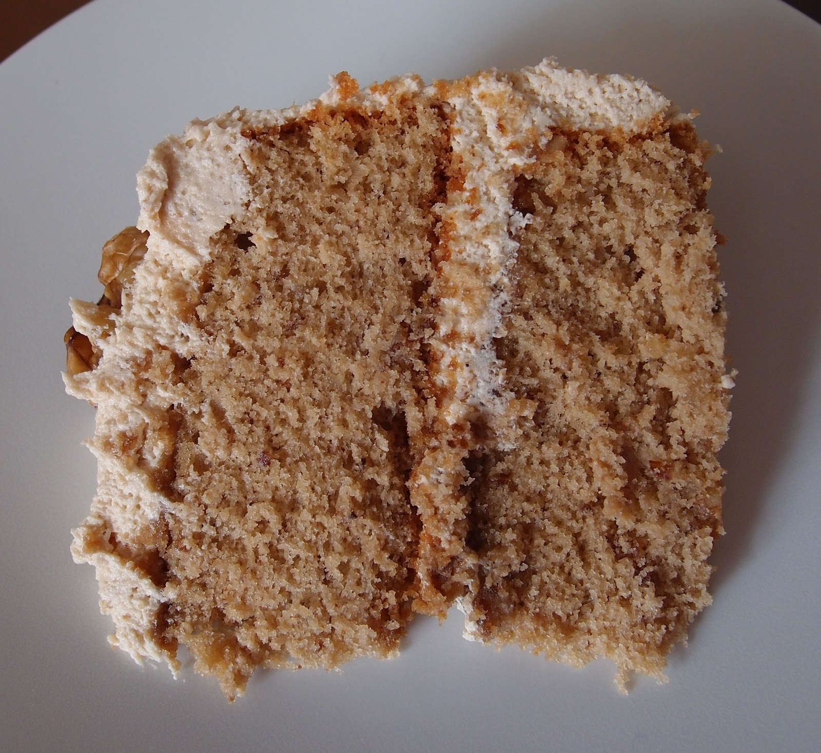 The Caked Crusader Coffee And Walnut Cake A Birthday Cake