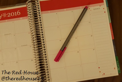 The Red House Blog - Erin Condren Monthly Spread Goals Section