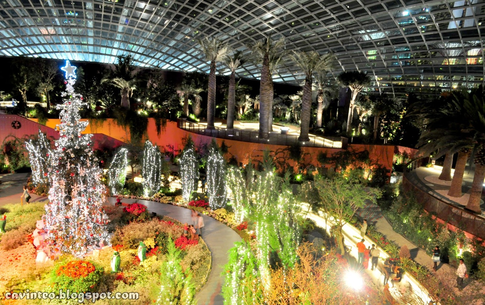flower dome at night gardens by the bay bay south - Garden By The Bay Flower