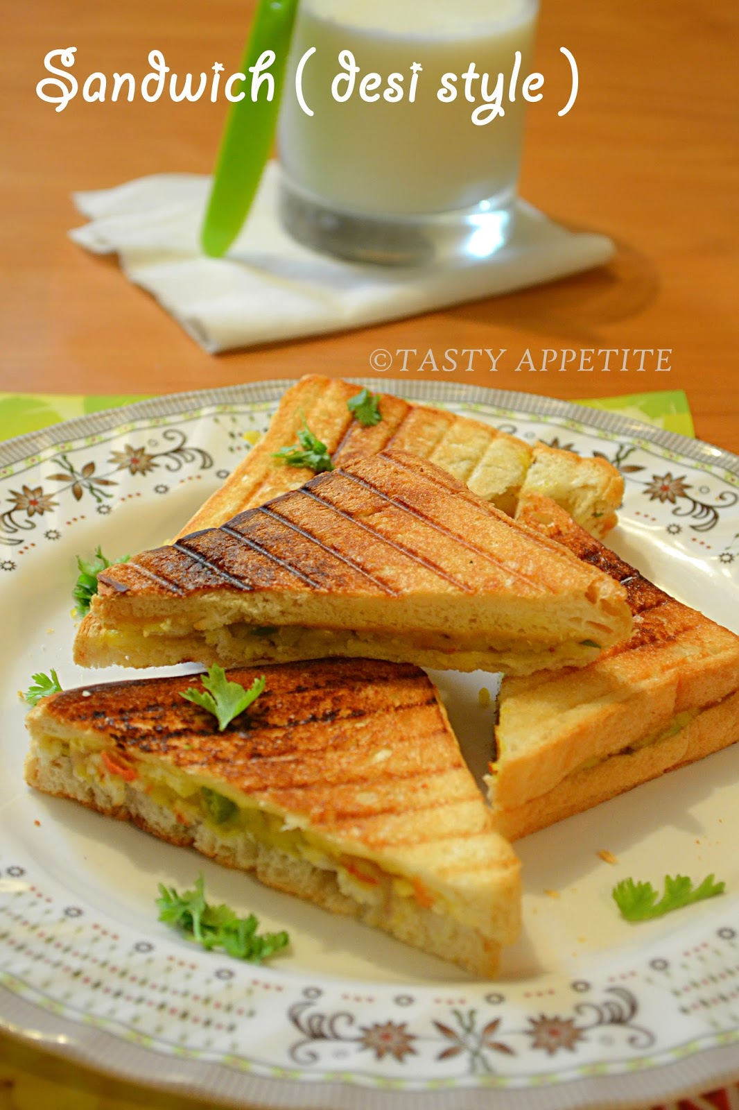 Chicken sandwich recipes indian style