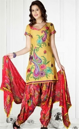 Latest Casual Wear Patiala Suits