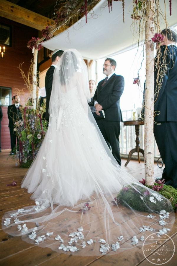 Rustic Chuppah, floral Liancarlo veil