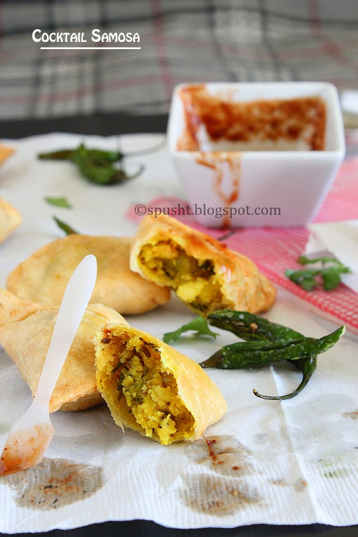 Spusht | Small Sized Cocktail Samosa for Parties or Large Gatherings