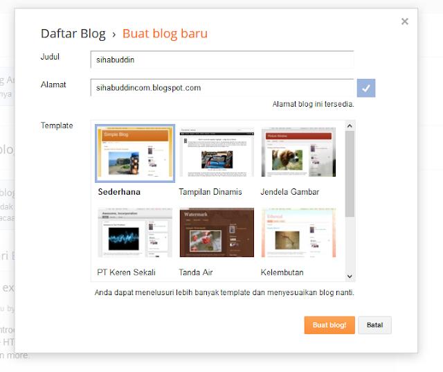 cara membuat blog langkah ketiga