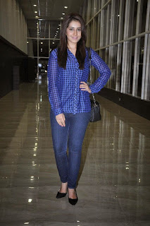 Actress Rashi Khanna Latest Pictures in Jeans at Lakshmi Raave Maa Intiki Telugu Movie Audio Launch  7