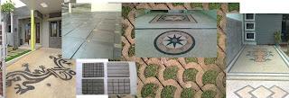 Model motif lantai parkir rumah minimalis