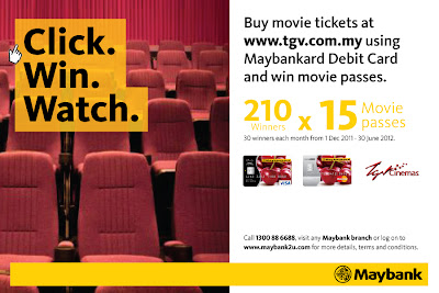 "Maybank ""Click, Buy, Win at TGV Cinemas"" Contest 