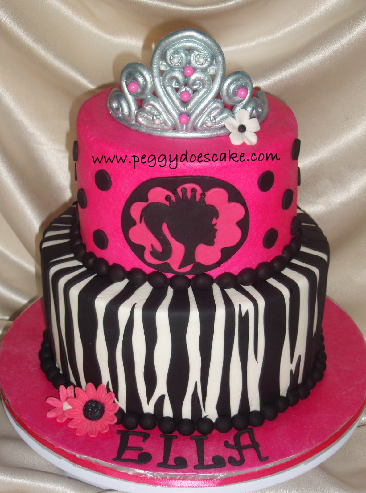 Peggy Does Cake Ellas Modern Barbie Cake Click any photo to