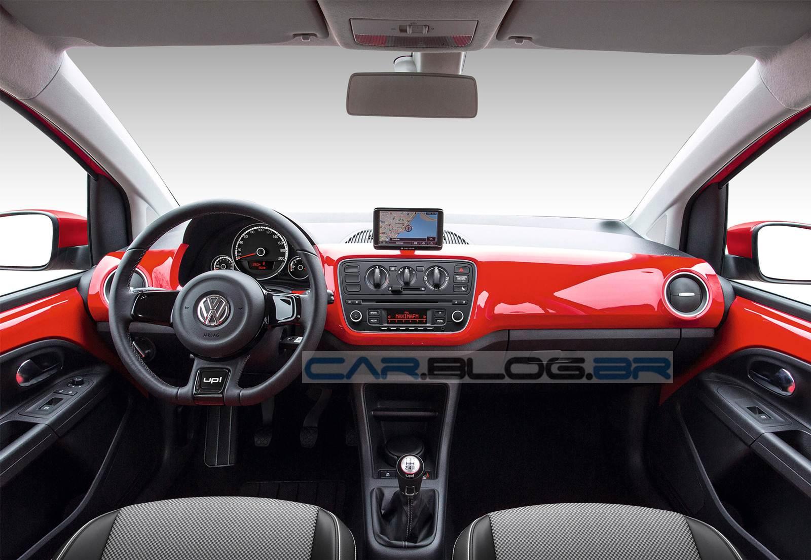 Volkswagen Up! 2015 - versão Red-up! - painel