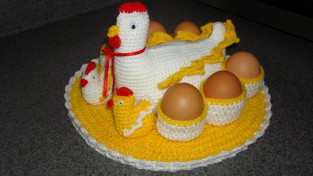 """Mossita Bella Crochet y Tejido """": Patrón de gallina porta huevos a ..."""