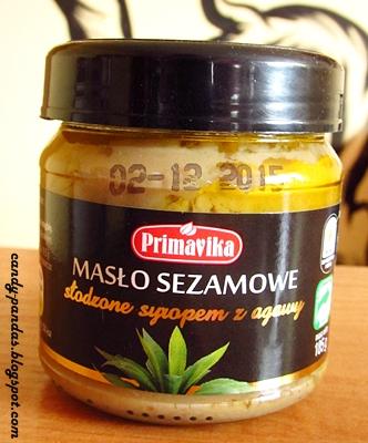 Masło sezamowe słodzone syropem z agawy - Primavika