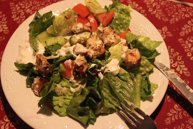 Tortillas and Honey: Chicken Souvlaki Salad (Kabob Week Day 4)
