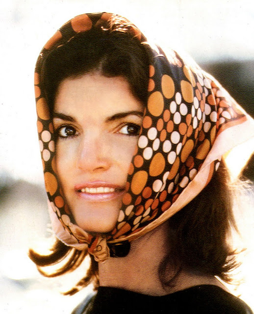 Jackie in Pucci scarf 1962