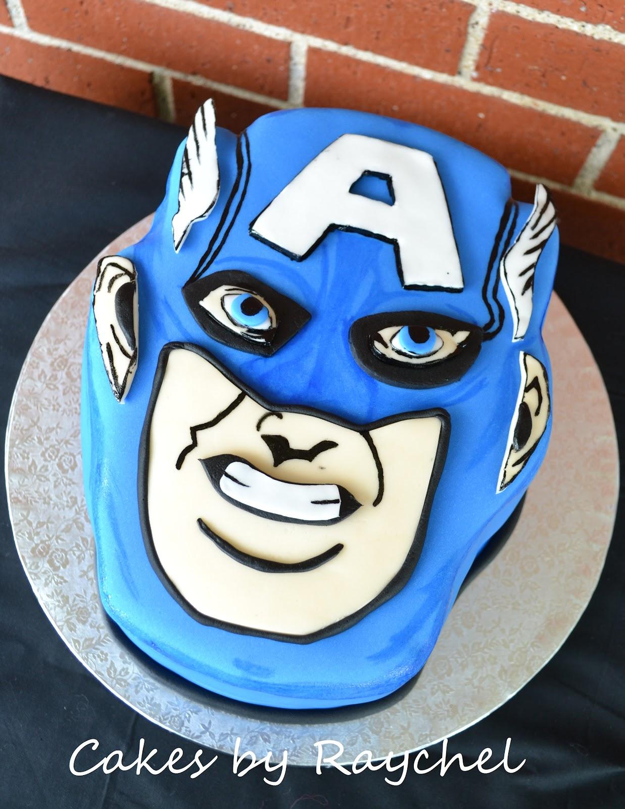 My Creative Way Captain America Face Cake Captian America Shield