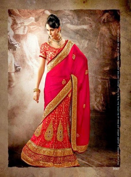 Latest New Indian Designer Sari Fashion