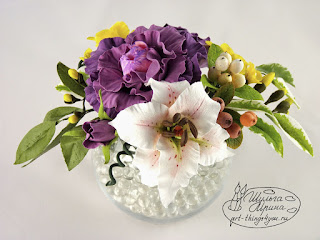 керамика букет лилия