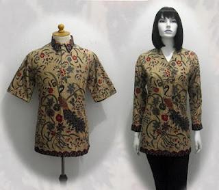 gambar blus batik modern
