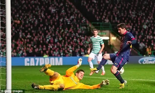 Musim Lalu, Barca Dengan Lionel Messi Tumbang di Celtic Park
