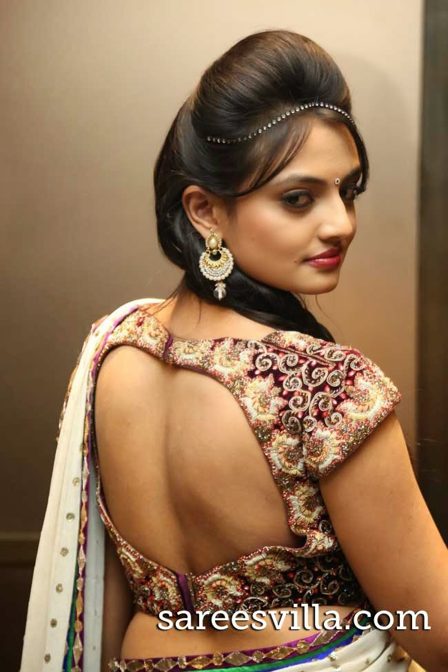 Nikitha In Backless Blouse
