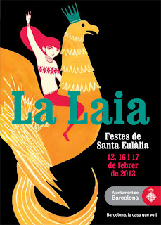 Official Poster for festivities of Sant Eulalia on barcelonasights blog