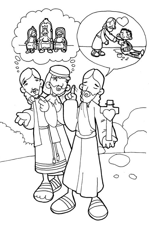Dibujos para catequesis evangelio domingo 29 del tiempo - Pagina da colorare di una bibbia ...