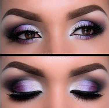 Silver ideas. eyes Purple  eyeshadow    Toned eye hair black brown brown  for Purple eyeshadow smokey
