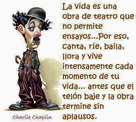 Reflexiones Sobre La Vida | Frases Charles Chaplin