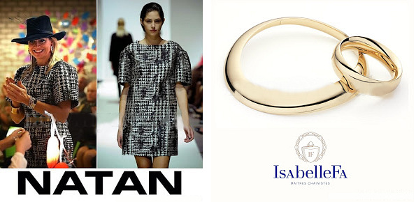 Queen Maxima's NATAN Dress and ISABELLE-FA Necklace