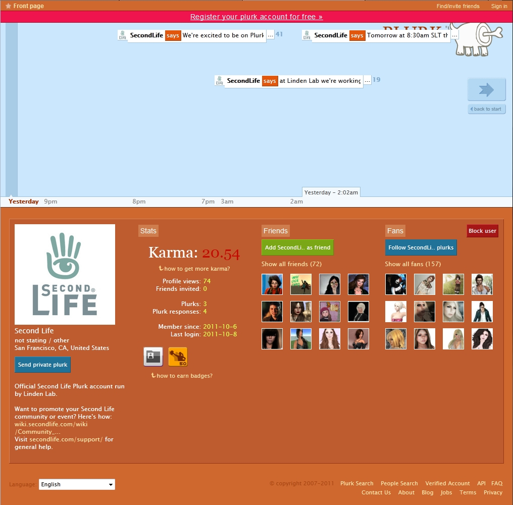 how to delete second life account