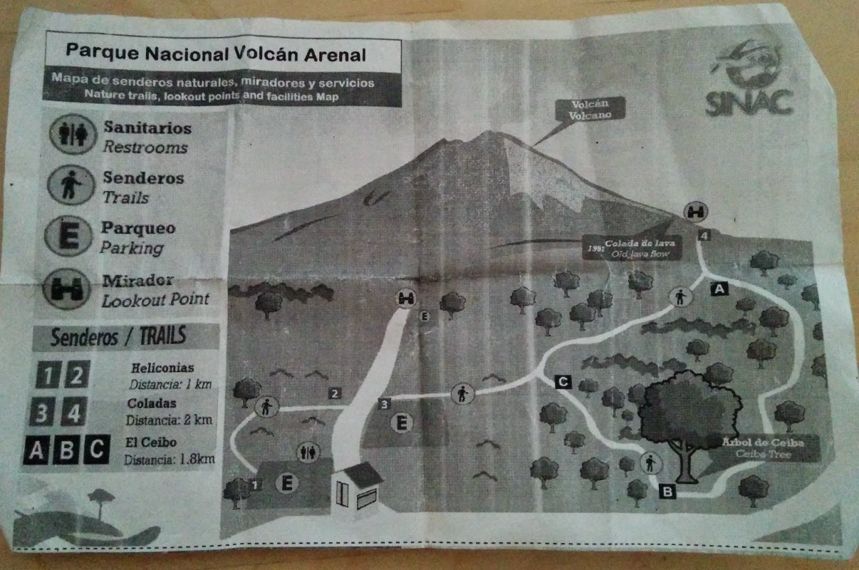 arenal national park trails