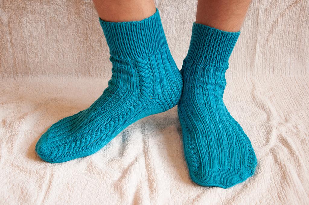 Вязание крючком носков мужских 74