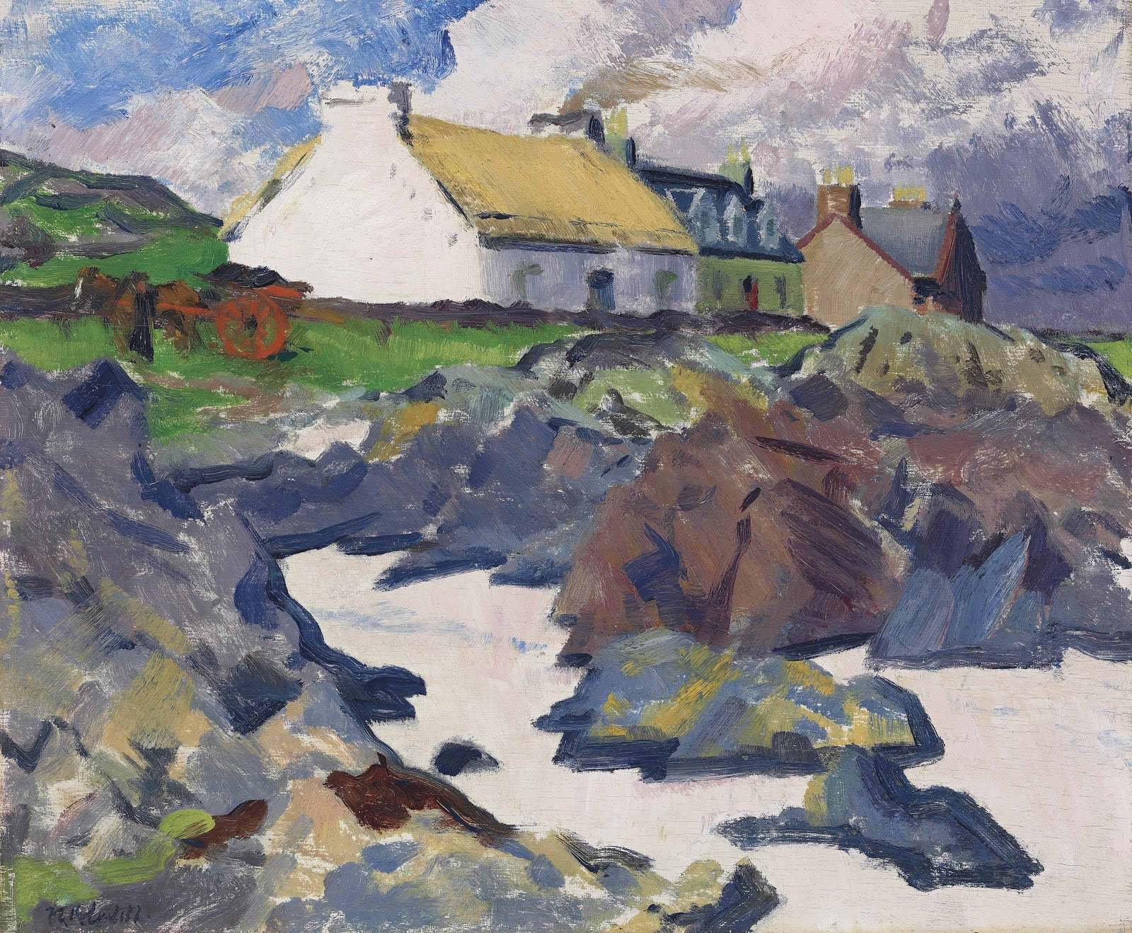 Francis Cadell Cottage on the shore Iona