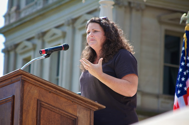 City Council Member – Kathie Dunbar. Michigan Pride Rally at the Capitol 2013, Lansing. by Tammy Sue Allen.