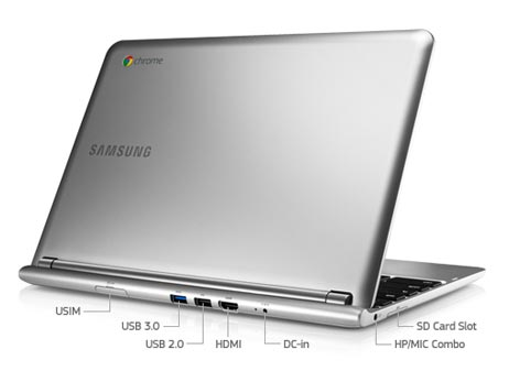 the ports on Google Chromebook
